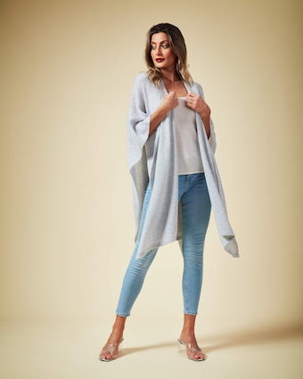 Brodie Cashmere Spring Time Wrap Sweater 2