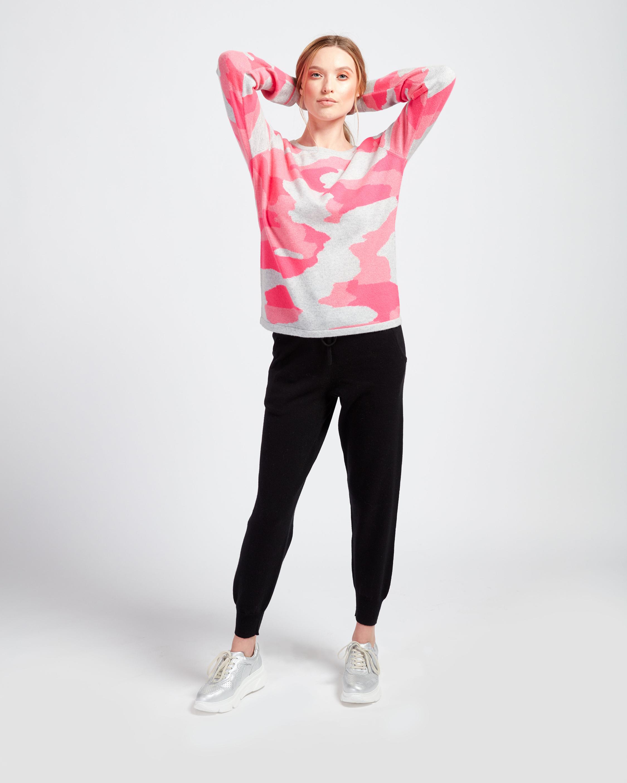 Brodie Cashmere Camo Sweater 1