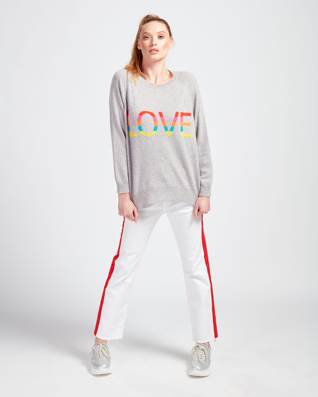 Brodie Cashmere Love Rainbow Sweater 0