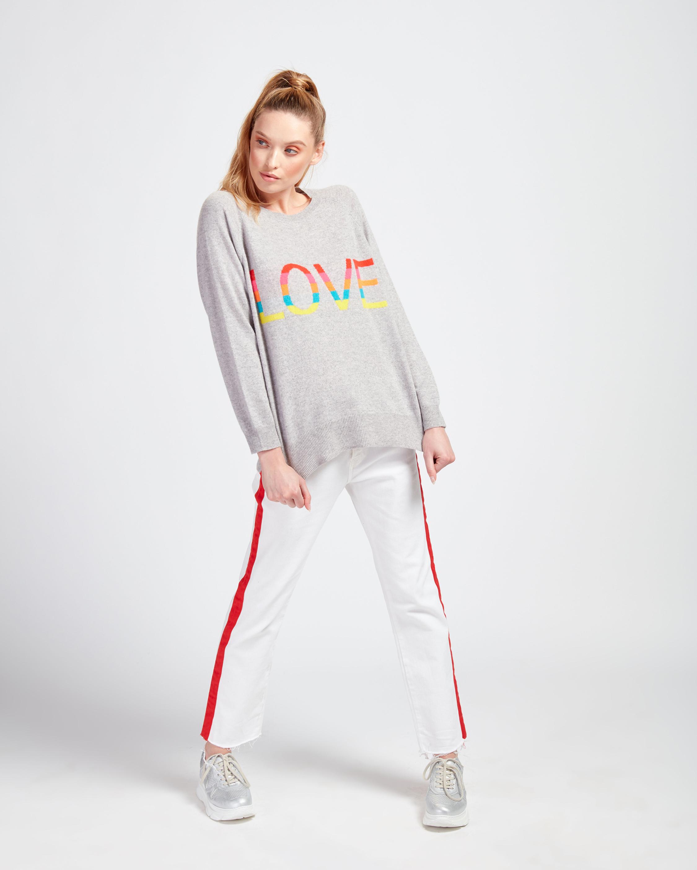 Brodie Cashmere Love Rainbow Sweater 1