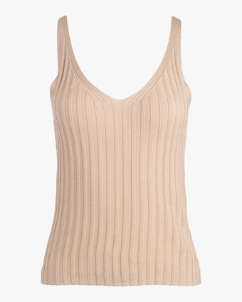 Ribbed V Neck Tank