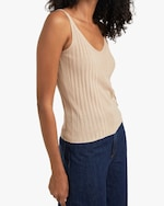 Naadam Ribbed V Neck Tank 3