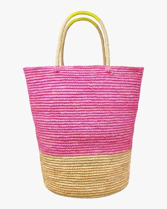 Tall Triple-Tone Beach Tote