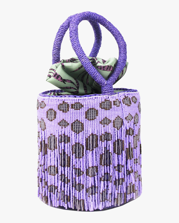 Sensi Studio Mini Mini Leopard Beaded Bucket Bag 0