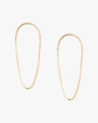 Crescent Oval Drop Earrings