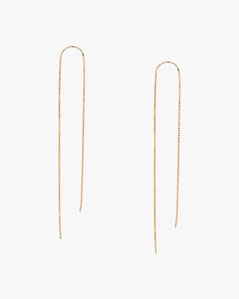 Arch Box Chain Earrings