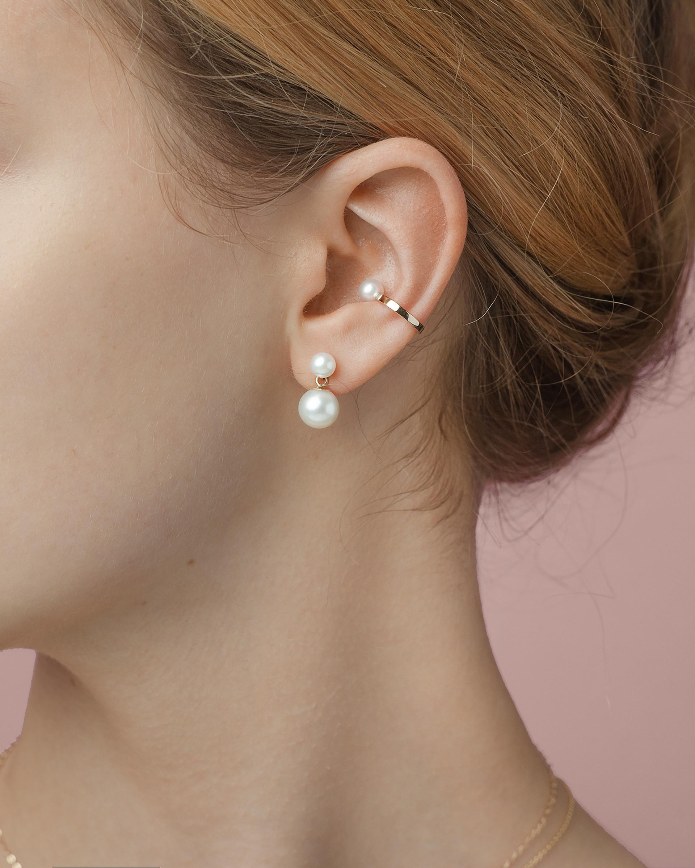 Poppy Finch Single Pearl Ear Cuff 1