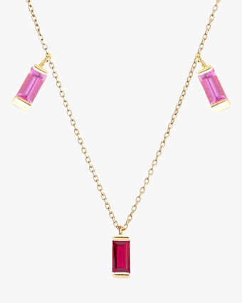 Ruby & Pink Sapphire Station Necklace