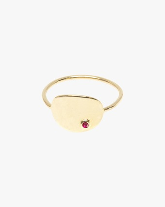 Poppy Finch Oval Ruby Ring 1