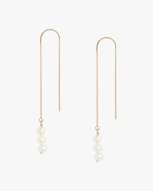 Triple Baby Pearl Threader Earrings