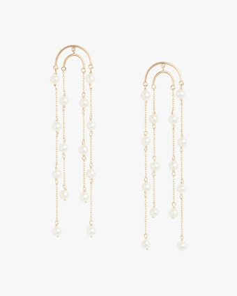 Poppy Finch Double Crescent Pearl Drop Earrings 1
