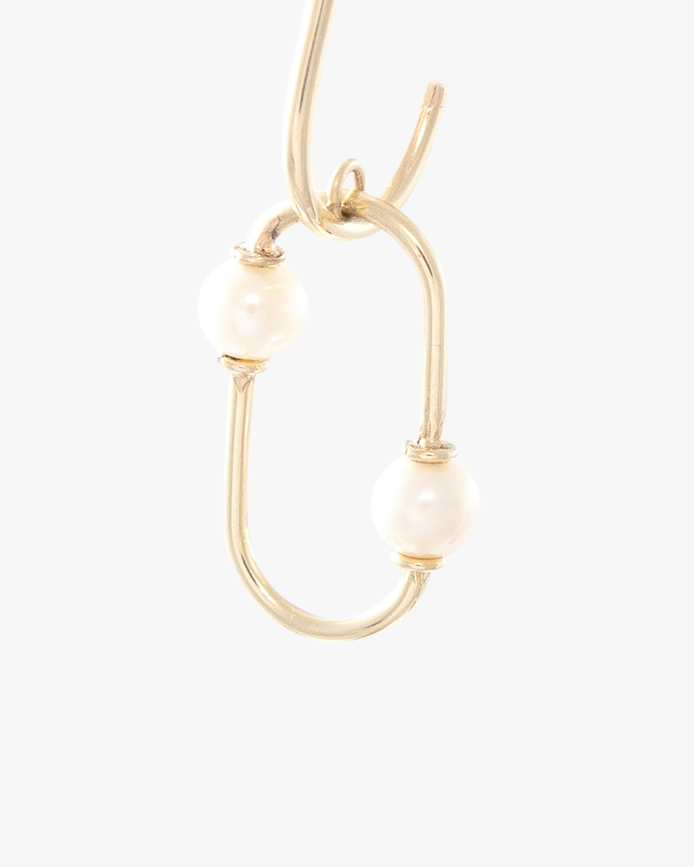 Poppy Finch Pearl Oval Dangle Earrings 1