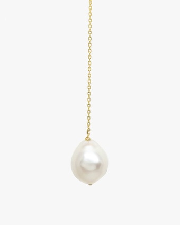 Crescent Hi-Low Pearl Drop Earrings
