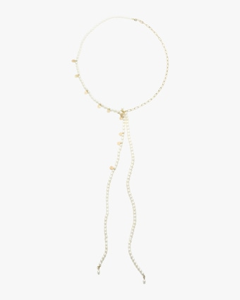 Pearl Chain-Tie Necklace