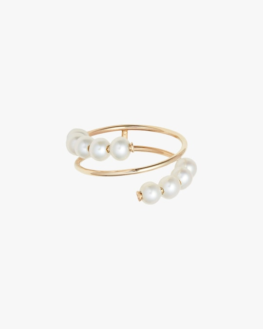 Poppy Finch Baby Pearl Spiral Ring 0