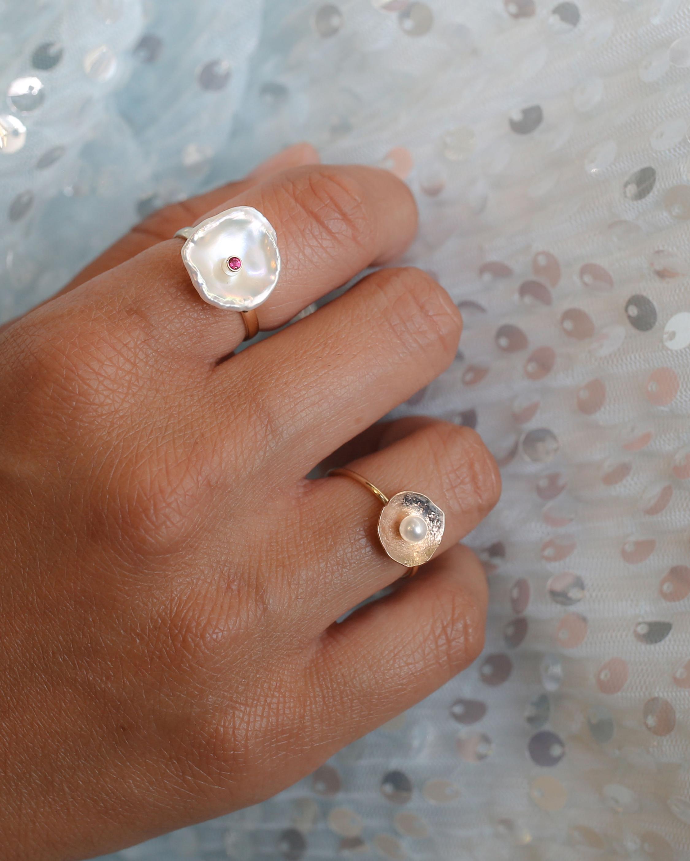 Poppy Finch Petal Ruby Ring 1