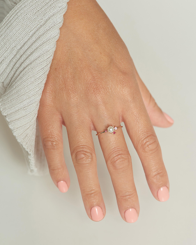 Poppy Finch Pearl & Ruby Ring 2