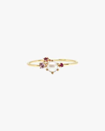 Pearl & Ruby Ring