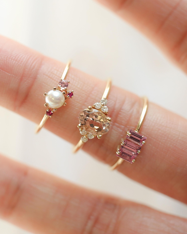 Poppy Finch Pearl & Ruby Ring 1