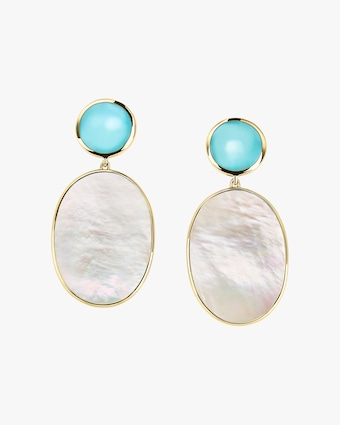 Polished Rock Candy Oval Post Earrings