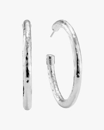Medium Classico Hammered Hoop Earrings