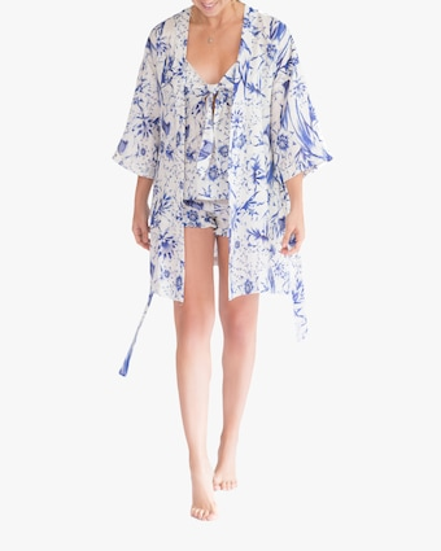 The Lazy Poet Lola Kimono Linen Robe 1