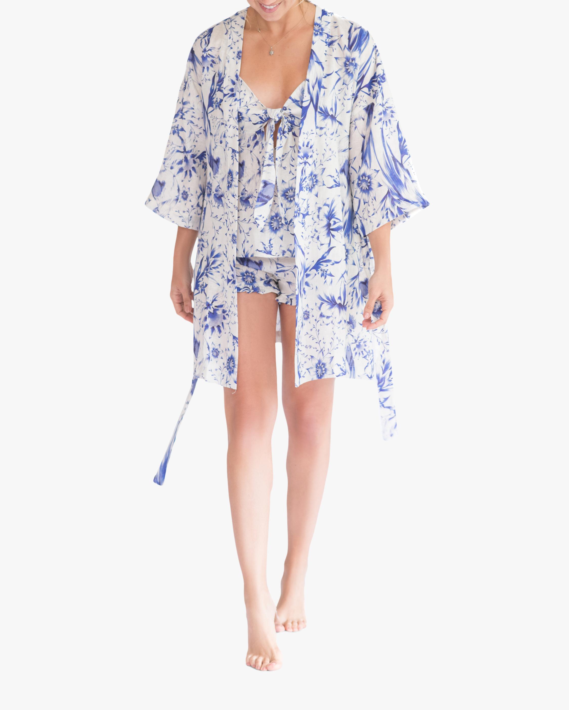 The Lazy Poet Lola Kimono Linen Robe 0