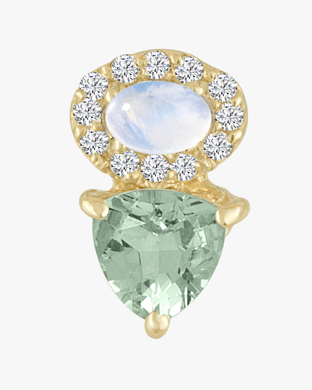 Eden Presley Rainbow Moonstone & Aquamarine Stud Earrings 1