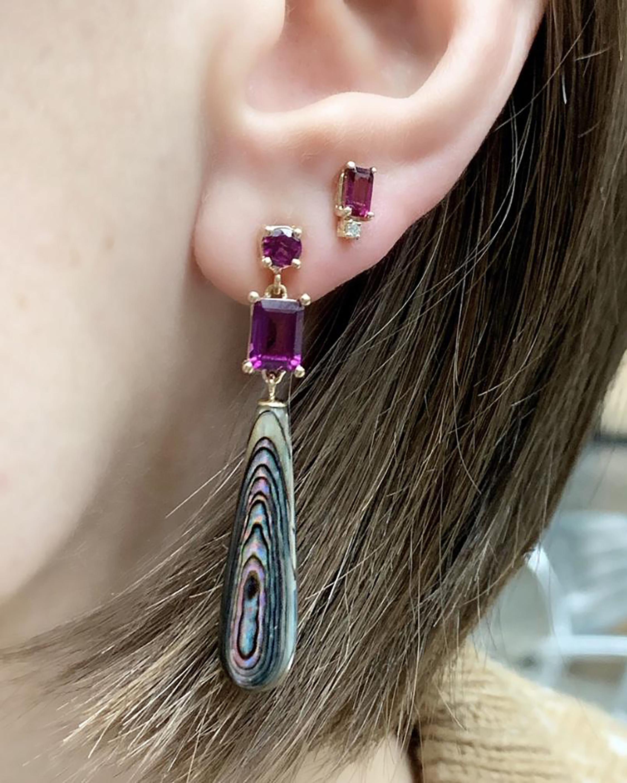 Eden Presley Rhodolite Garnet & Abalone Drop Earrings 1