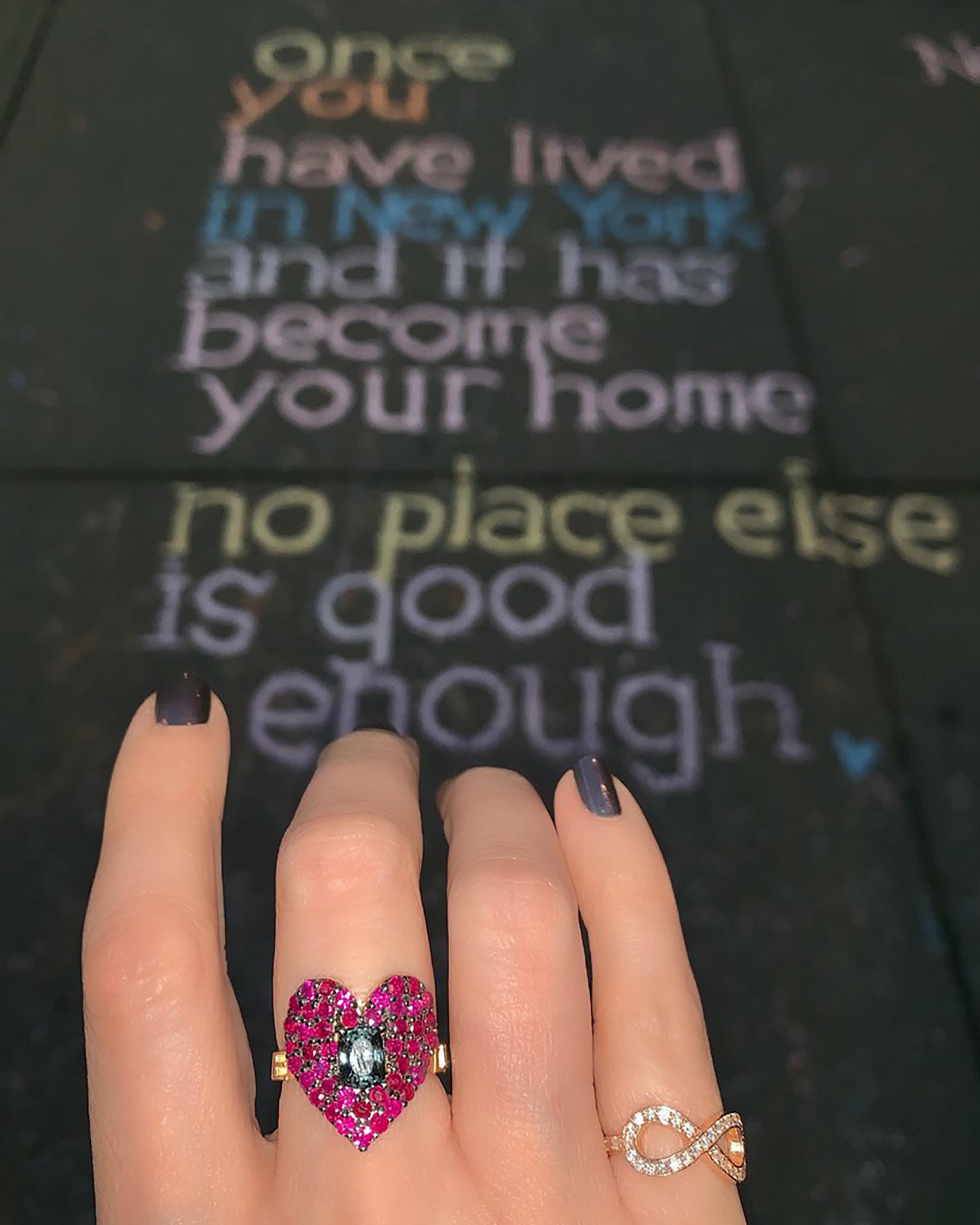 Eden Presley Love Luck Heart Ring 2