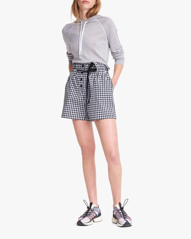 rag & bone Camille Gingham Shorts 0