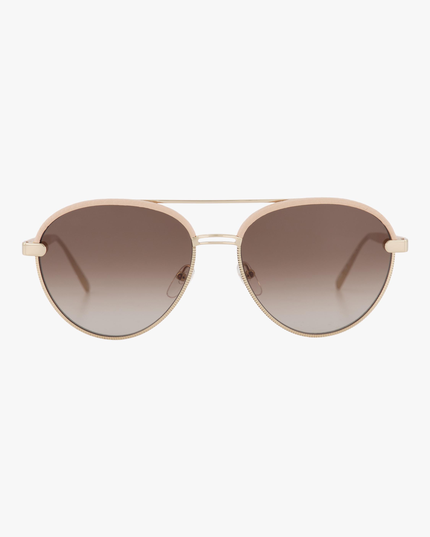 Classic Logo Aviator Sunglasses