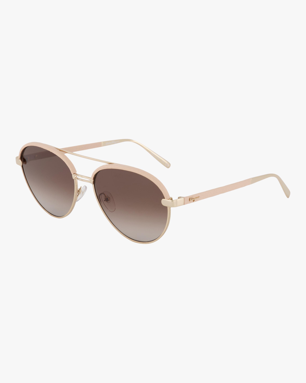 Salvatore Ferragamo Classic Logo Aviator Sunglasses 1