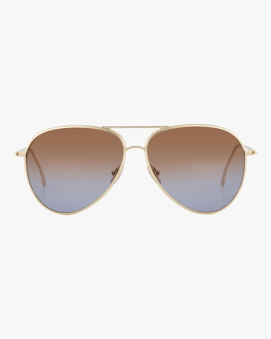 Victoria Beckham Textured Metal Aviator Sunglasses 0