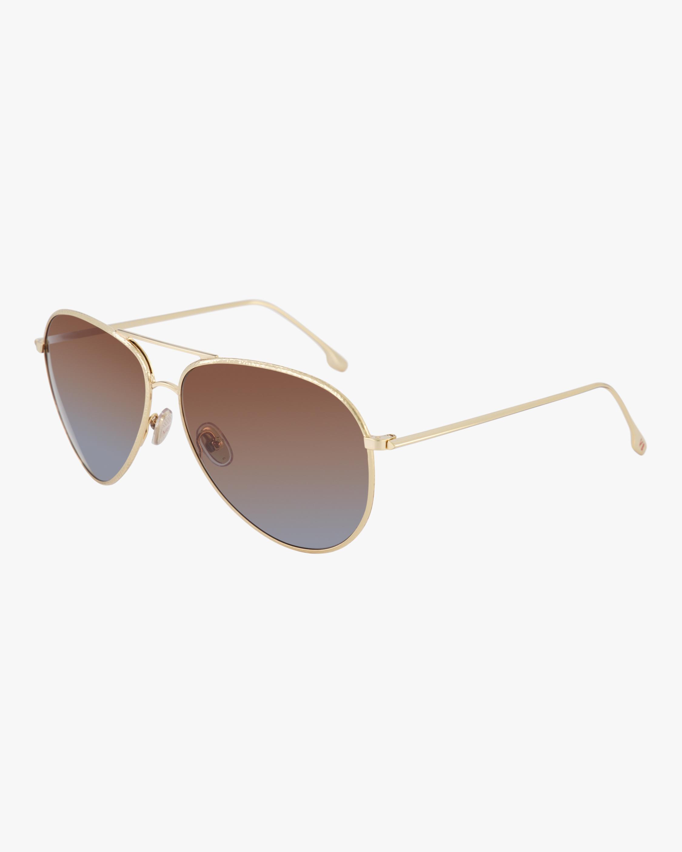 Textured Metal Aviator Sunglasses