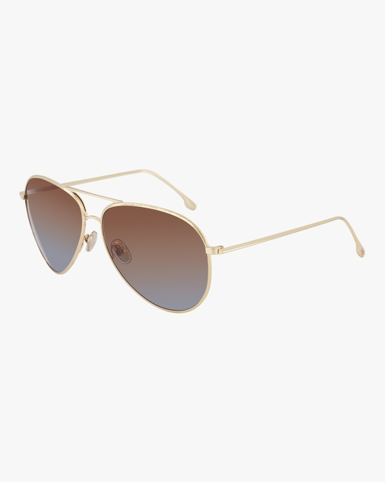 Victoria Beckham Textured Metal Aviator Sunglasses 1