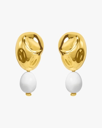 Monica Sordo Oriente White Onyx Drop Earrings 1
