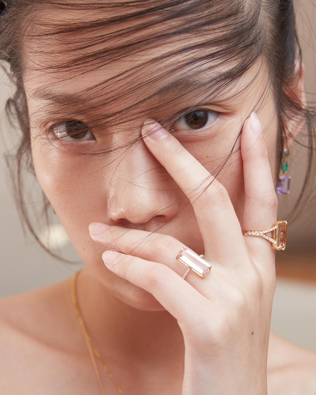 Yi Collection Morganite & White Diamond Ring 1