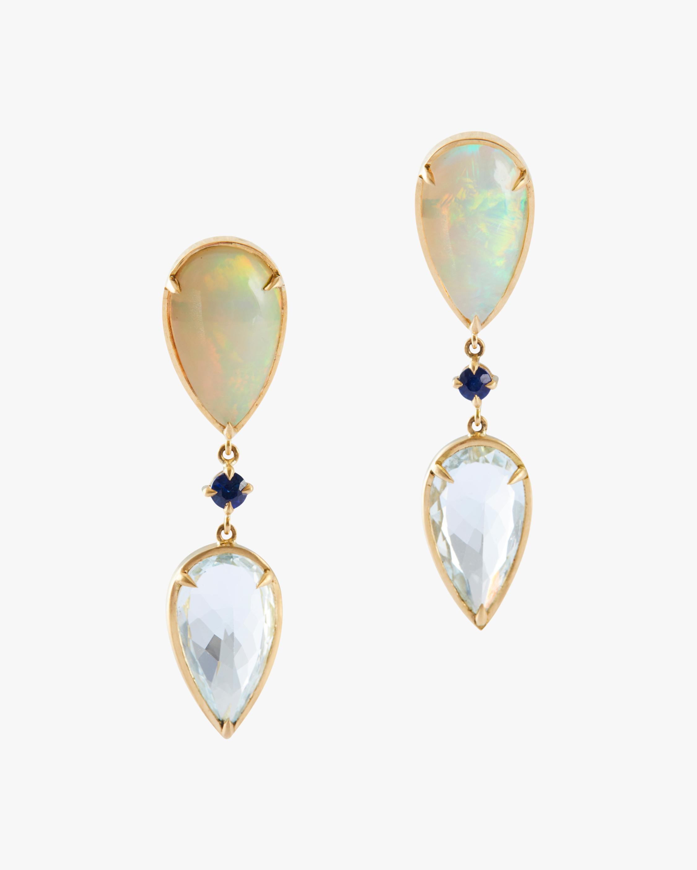 Opal & Aquamarine Dewdrop Earrings