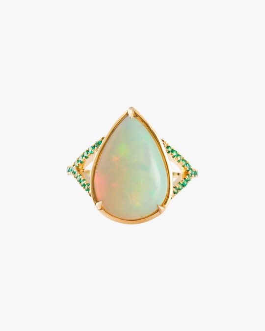 Yi Collection Opal & Emerald Dewdrop Ring 0