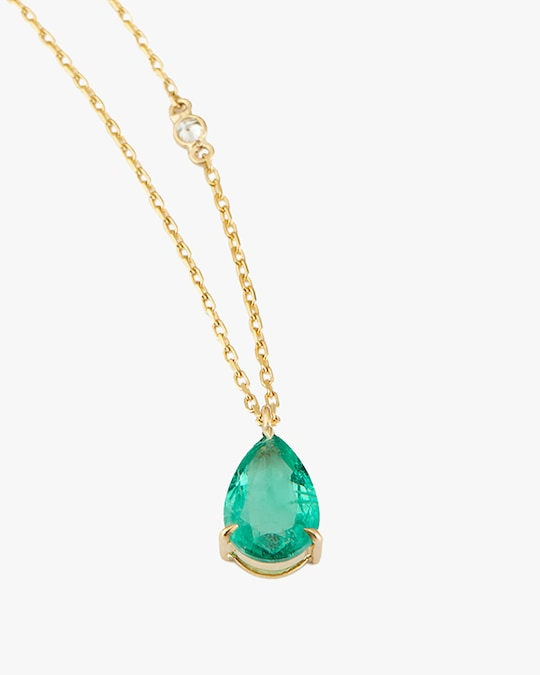 Yi Collection Emerald Dewdrop Pendant Necklace 1