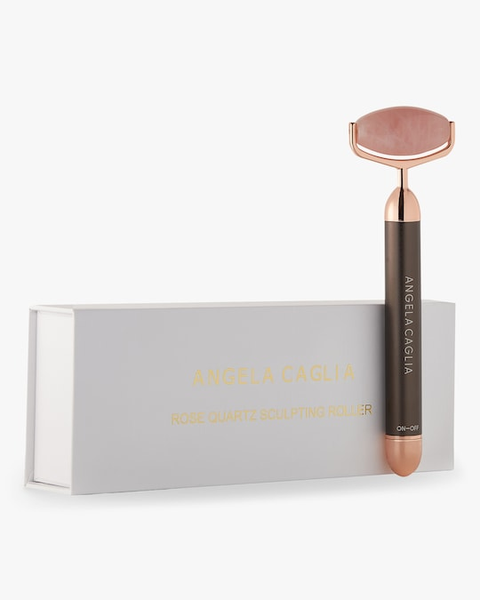 Angela Caglia Skincare Vibrating Rose Quartz Sculpting Roller 1