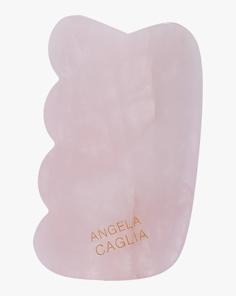 Angela Caglia Skincare Rose Quartz Gua Sha Lifting Tool 1