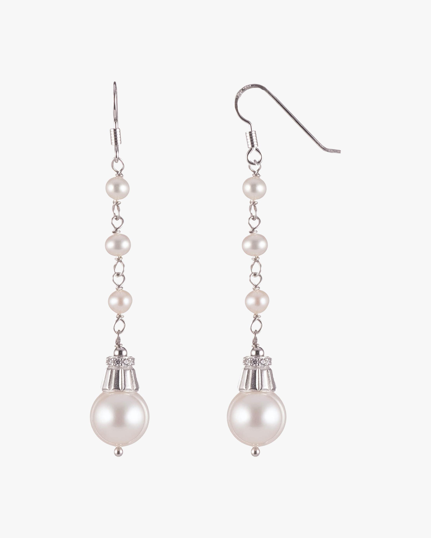 Freshwater Pearl Linear Drop Earrings