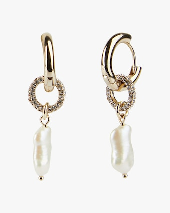 Carolee Eden Huggie Hoop Drop Earrings 1