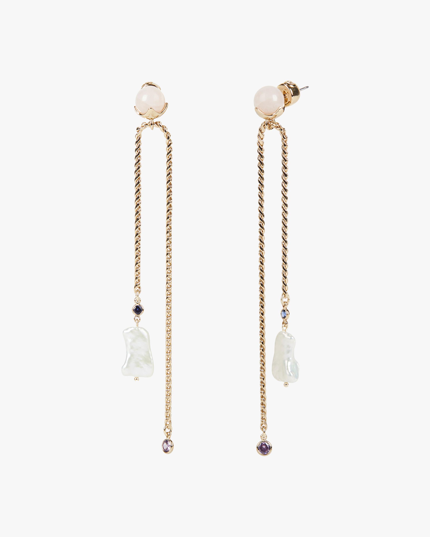 Eden Linear Drop Earrings