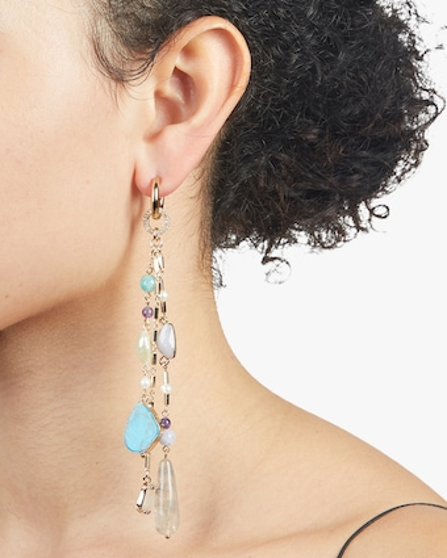 Eden Fringe Linear Drop Earrings