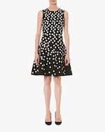 Carolina Herrera Fit & Flare Sleeveless Jacquard Dress 0
