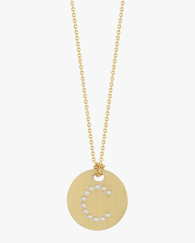 Roberto Coin Circle Letter Pendant Necklace 2