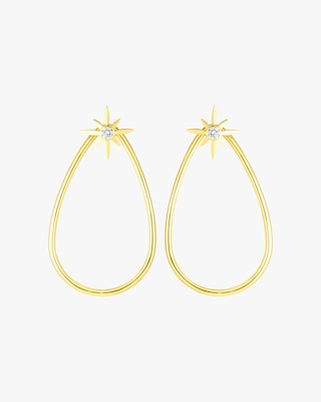 Roberto Coin Cinderella Star Teardrop Earrings 1